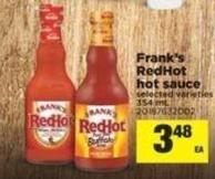 Frank's Redhot Hot Sauce - 354 mL