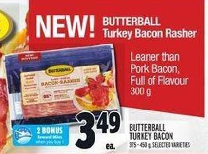 Butterball Turkey Bacon Rasher