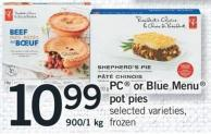 PC Or Blue Menu Pot Pies - 900/1 Kg