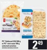 PC Flatbread - 220/300 G Or PC Mini Naan - 180 G
