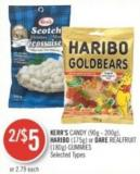 Kerr's Candy (90g - 200g) - Haribo (175g) or Dare Realfruit (180g) Gummies