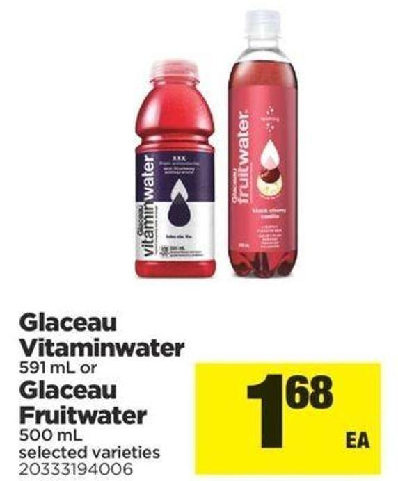 Glaceau Vitaminwater - 591 Ml Or Glaceau Fruitwater - 500ml