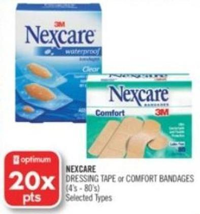 Nexcare Dressing Tape or Comfort on sale | Salewhale ca
