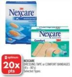 Nexcare Dressing Tape or Comfort Bandages
