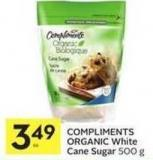 Compliments Organic White Cane Sugar