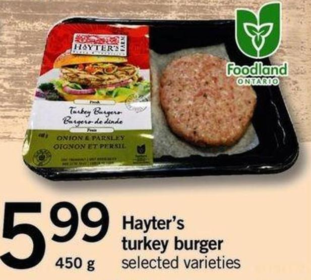 Hayter's Turkey Burger - 450g