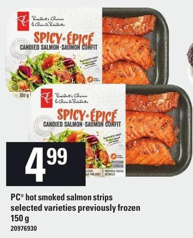 PC Hot Smoked Salmon Strips - 150 g