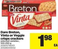 Dare Breton - Vinta Or Veggie Crisps Crackers - 100-250 g