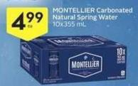 Montellier Carbonated Natural Spring Water 10x355 mL