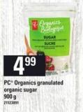 PC Organics Granulated Organic Sugar - 900 G