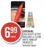 Covergirl Lash Blast Active Mascara or Clean Matte Makeup Products