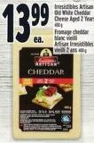 Irresistibles Artisan Old White Cheddar Cheese