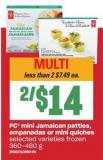 PC Mini Jamaican Patties - Empanadas Or Mini Quiches - 360/480 g