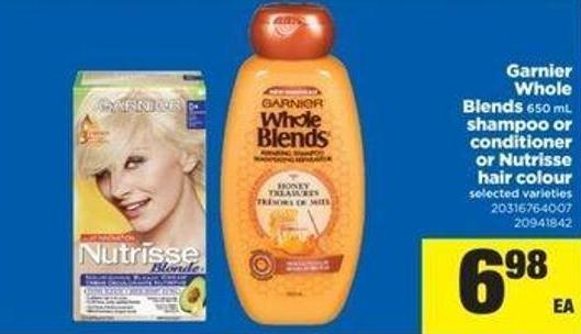 Garnier Whole Blends - 650 mL Shampoo Or Conditioner Or Nutrisse Hair Colour