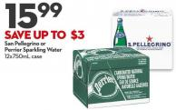 San Pellegrino or  Perrier Sparkling Water 12x750ml