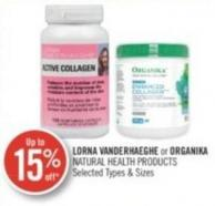 Lorna Vanderhaeghe or Organika Natural Health Products
