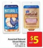 Assorted Natural Sliced Meats