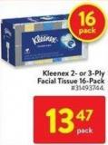 Kleenex 2-or-3 Ply Facial Tissue 16-pack