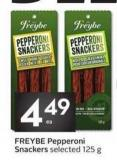 Freybe Pepperoni Snackers