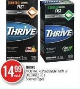 Thrive Nicotine Replacement GUM Or Lozeneges 36's