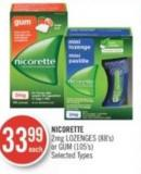 Nicorette 2mg Lozenges (88's) or GUM (105's)