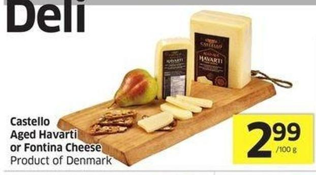 Castello Aged Havarti or Fontina Cheese Product of Denmark
