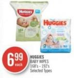 Huggies Baby Wipes 168's - 192's