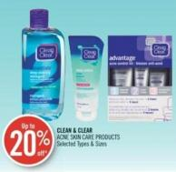 Clean & Clear Acne Skin Care Products