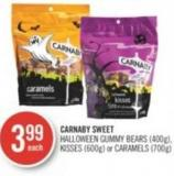 Carnaby Sweet Halloween Gummy Bears (400g) - Kisses (600g) or Caramels (700g)