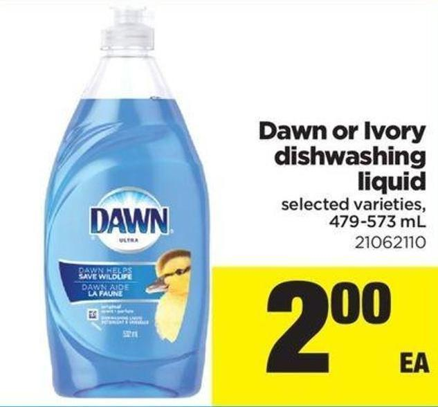 Dawn Or Ivory Dishwashing Liquid - 479-573 Ml