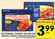 Butterball Turkey Bacon Or Maple Lodge Chicken Bacon