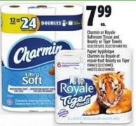 Harmin Or Royale Bathroom Tissue And Bounty Or Tiger Towels