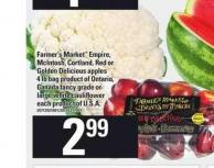 Farmer's Market Empire - Mcintosh - Cortland - Red Or Golden Delicious Apples - 4 Lb Bag Or Large White Cauliflower