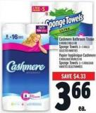 Cashmere Bathroom Tissue 8 Double Rolls Or Sponge Towels 3 = 5 Rolls