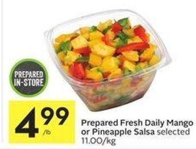 Prepared Fresh Daily Mango or Pineapple Salsa