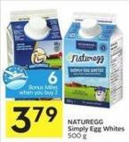 Naturegg Simply Egg Whites 500 g - 6 Air Miles Bonus Miles