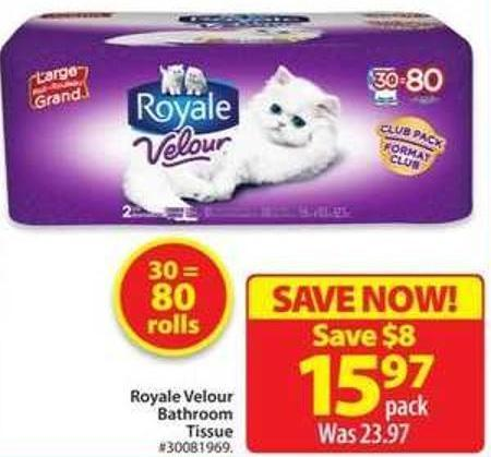 Royal Velour Bathroom Tissue