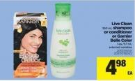 Live Clean - 350 mL Shampoo Or Conditioner Or Garnier Belle Color - 1 Ea./57 mL