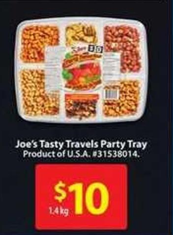 Joe's Tasty Travels Party Tray