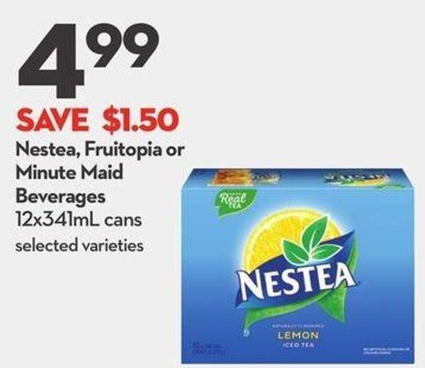 nestea fruitopia or minute maid beverages