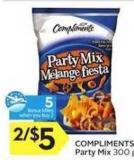 Compliments Party Mix - 5 Air Miles Bonus Miles