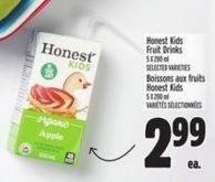 Honest Kids Fruit Drinks 5 X 200 ml