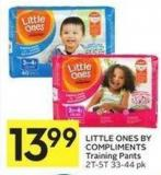 Little Ones By Compliments Training Pants 2t-5t 33-44 Pk