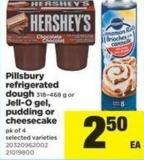 Pillsbury Refrigerated Dough - 318–468 G Or Jell-o Gel - Pudding Or Cheesecake - Pk Of 4