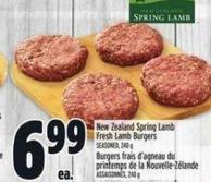 New Zealand Spring Lamb Fresh Lamb Burgers Seasoned