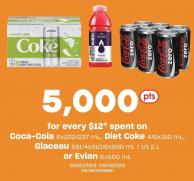 Coca-cola 6x222/237 Ml - Diet Coke 4/8x310 Ml - Glaceau 591/4x310/6x500 Ml / 1/1.5 L Or Evian 6x500 Ml
