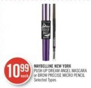Maybelline New York Push Up Dream Angel Mascara or Brow Precise Micro Pencil