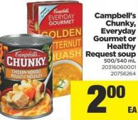 Campbell's Chunky - Everyday Gourmet or Healthy Request Soup