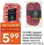 OLYMEL Spanish or Marcangelo Italian Sliced Deli Meats Imported Selected 100-150 g