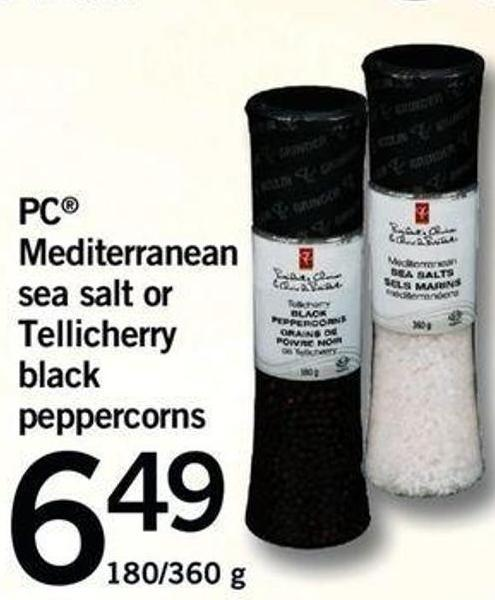 PC Mediterranean Sea Salt Or Tellicherry Black Peppercorns